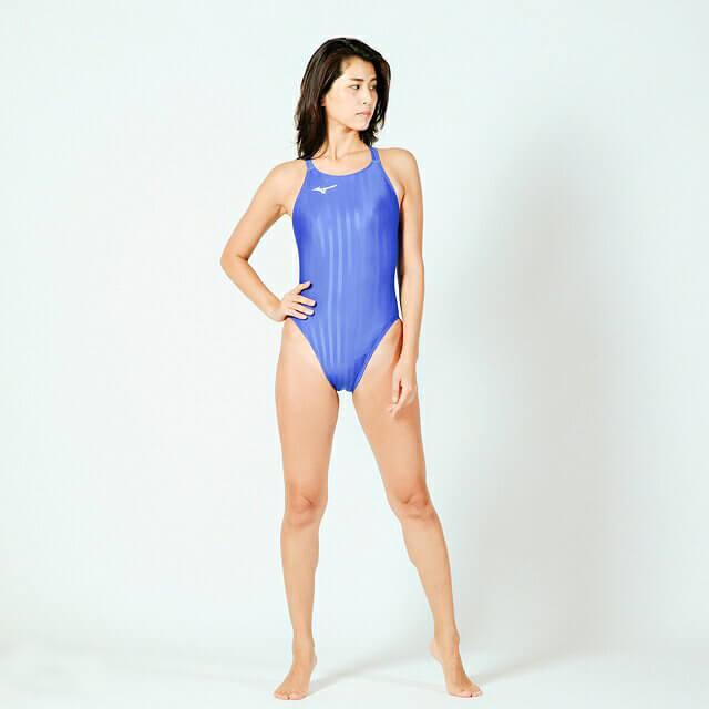レディース競泳水着 MIZUNOストリームアクセラ ハイカットモデル